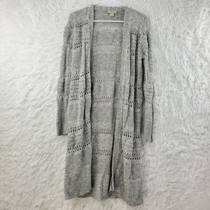 LOFT Duster Open Knit Cardigan Sweater